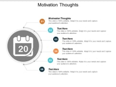 Motivation Thoughts Ppt PowerPoint Presentation Layouts Aids Cpb