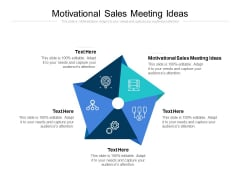 Motivational Sales Meeting Ideas Ppt PowerPoint Presentation Summary Objects Cpb