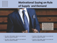 Motivational Saying On Rule Of Supply And Demand Ppt PowerPoint Presentation File Influencers PDF