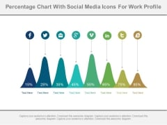 Mountain Chart With Social Media Icons Powerpoint Slides