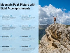 Mountain Peak Picture With Eight Accomplishments Ppt PowerPoint Presentation Gallery Clipart Images