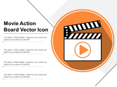 Movie Action Board Vector Icon Ppt PowerPoint Presentation Summary Tips PDF