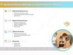 Movie Making Solutions Additional Service Offerings For Video Production Services Clipart PDF