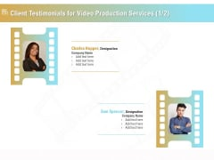 Movie Making Solutions Client Testimonials For Video Production Services Ideas PDF