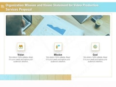 Movie Making Solutions Organization Mission And Vision Statement For Video Production Services Background PDF