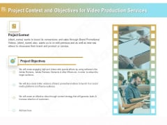 Movie Making Solutions Project Context And Objectives For Video Production Services Microsoft PDF