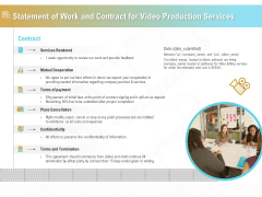 Movie Making Solutions Statement Of Work And Contract For Video Production Services Mockup PDF
