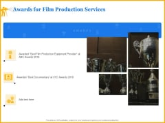 Movie Production Proposal Template Awards For Film Production Services Summary PDF