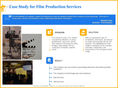 Movie Production Proposal Template Case Study For Film Production Services Elements PDF