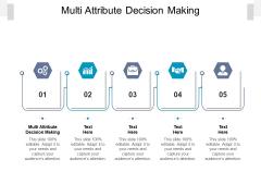 Multi Attribute Decision Making Ppt PowerPoint Presentation Model Demonstration Cpb Pdf