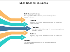 Multi Channel Business Ppt PowerPoint Presentation Ideas Clipart Cpb