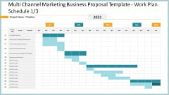 Multi Channel Marketing Business Proposal Template Work Plan Schedule Project Sample PDF