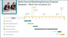 Multi Channel Marketing Business Proposal Template Work Plan Schedule Strategic Ideas PDF
