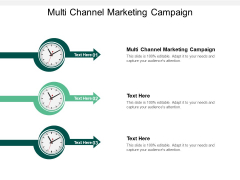 Multi Channel Marketing Campaign Ppt PowerPoint Presentation Layouts Model Cpb