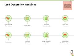 Multi Channel Online Commerce Lead Generation Activities Clipart PDF