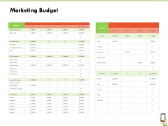 Multi Channel Online Commerce Marketing Budget Sample PDF