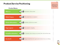 Multi Channel Online Commerce Product Service Positioning Infographics PDF
