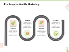 Multi Channel Online Commerce Roadmap For Mobile Marketing Ppt Infographic Template Visual Aids PDF