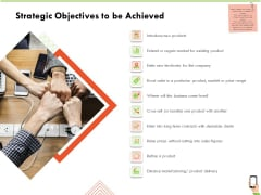 Multi Channel Online Commerce Strategic Objectives To Be Achieved Mockup PDF