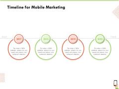 Multi Channel Online Commerce Timeline For Mobile Marketing Template PDF