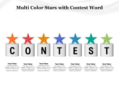 Multi Color Stars With Contest Word Ppt PowerPoint Presentation Infographics Designs Download PDF