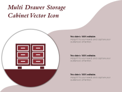 Multi Drawer Storage Cabinet Vector Icon Ppt PowerPoint Presentation Outline Model
