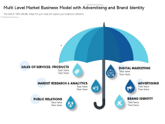 Multi Level Market Business Model With Advertising And Brand Identity Ppt PowerPoint Presentation File Background Image PDF