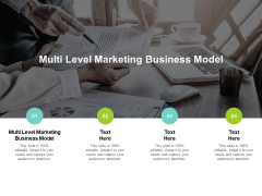 Multi Level Marketing Business Model Ppt PowerPoint Presentation Model Elements Cpb