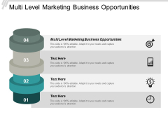 Multi Level Marketing Business Opportunities Ppt PowerPoint Presentation Outline Information Cpb