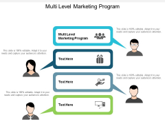 Multi Level Marketing Program Ppt Powerpoint Presentation Outline Graphic Images Cpb