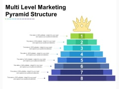 Multi Level Marketing Pyramid Structure Ppt PowerPoint Presentation Icon Graphics Download PDF