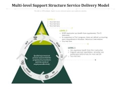 Multi Level Support Structure Service Delivery Model Ppt PowerPoint Presentation Slides Topics PDF