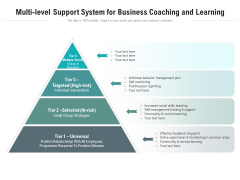 Multi Level Support System For Business Coaching And Learning Ppt PowerPoint Presentation Show Skills PDF
