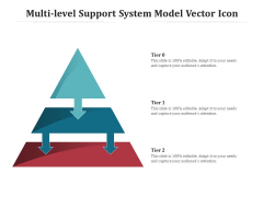 Multi Level Support System Model Vector Icon Ppt PowerPoint Presentation Portfolio Guidelines PDF