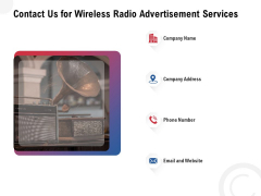 Multi Radio Waves Contact Us For Wireless Radio Advertisement Services Themes PDF