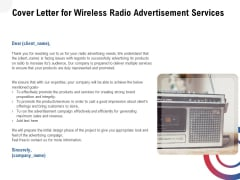 Multi Radio Waves Cover Letter For Wireless Radio Advertisement Services Inspiration PDF