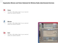 Multi Radio Waves Organization Mission And Vision Statement For Wireless Radio Advertisement Services Graphics PDF