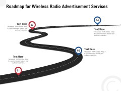 Multi Radio Waves Roadmap For Wireless Radio Advertisement Services Infographics PDF