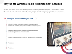 Multi Radio Waves Why Us For Wireless Radio Advertisement Services Formats PDF