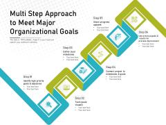 Multi Step Approach To Meet Major Organizational Goals Ppt PowerPoint Presentation Styles Summary PDF