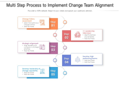 Multi Step Process To Implement Change Team Alignment Ppt PowerPoint Presentation Diagram Templates PDF