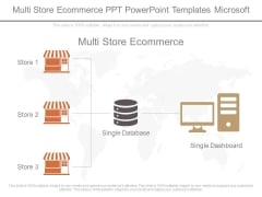 Multi Store Ecommerce Ppt Powerpoint Templates Microsoft
