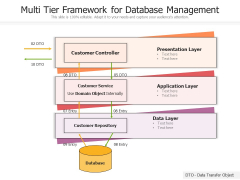 Multi Tier Framework For Database Management Ppt PowerPoint Presentation Icon Portfolio PDF