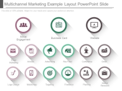 Multichannel Marketing Example Layout Powerpoint Slide