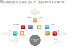 Multichannel Media Mix Ppt Background Graphics