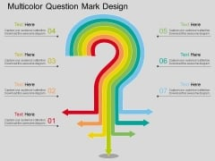 Multicolor Question Mark Design Powerpoint Template