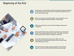 Multinational Financial Crisis Beginning Of The End Ppt Inspiration Icon PDF