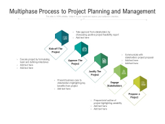 Multiphase Process To Project Planning And Management Ppt PowerPoint Presentation Slides Images PDF
