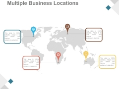 Multiple Business Locations Ppt PowerPoint Presentation Sample