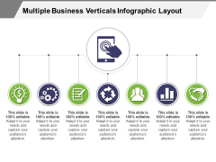 Multiple Business Verticals Infographic Layout Ppt PowerPoint Presentation Pictures Show PDF